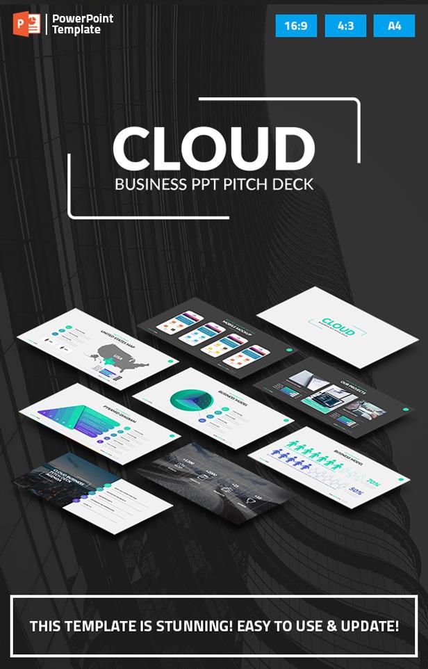 Cloud - Startup Business PPT Pitch Deck