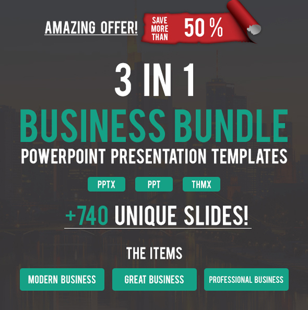 3 in 1 Modern Business Presentation Bundle