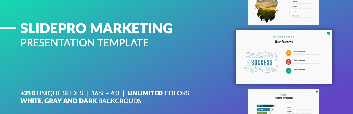 Best SlidePro - Marketing PowerPoint Presentation Template
