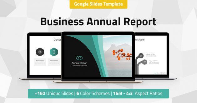 Annual Report - Business Google Slides Presentation Template