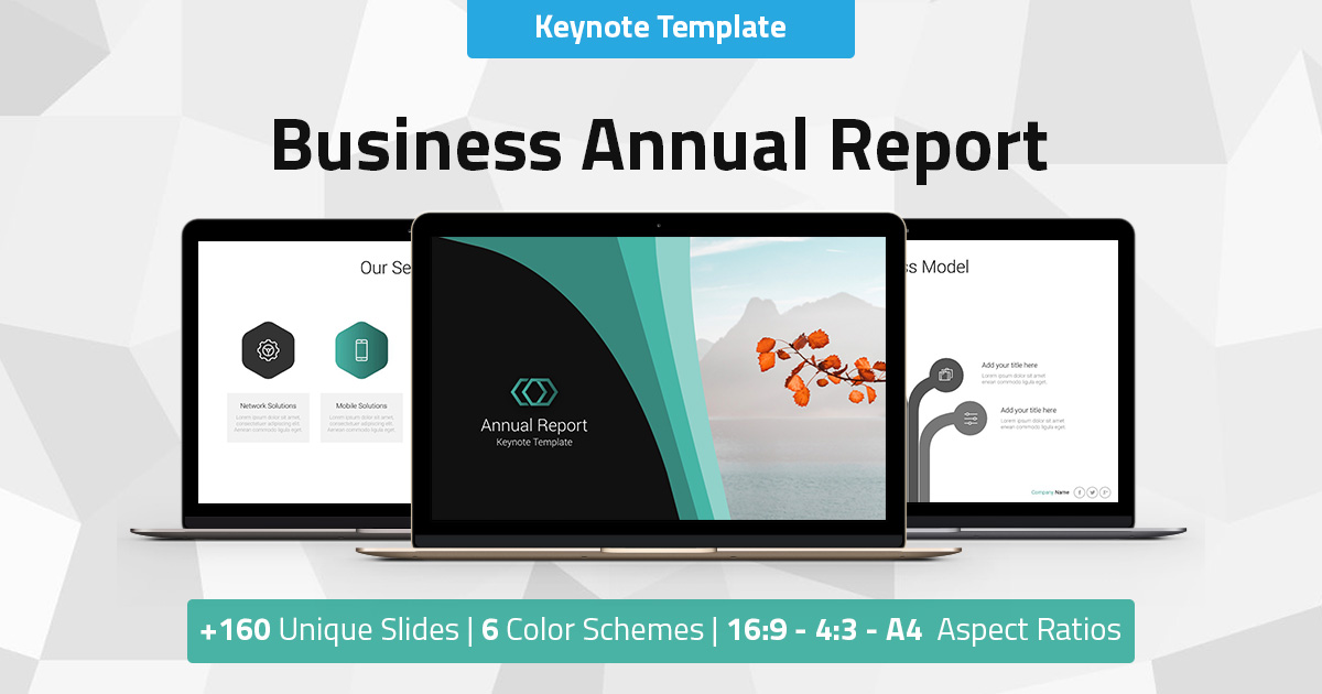 Annual Report - Business Keynote Presentation Template