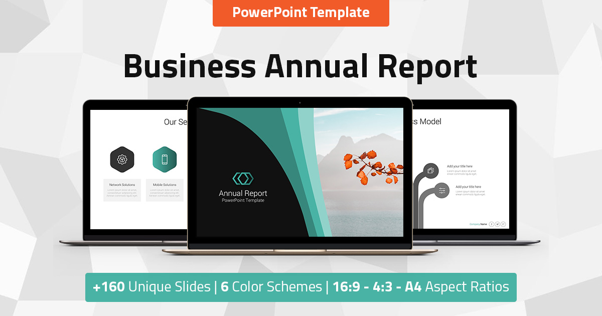 Annual Report - Business PowerPoint Presentation Template