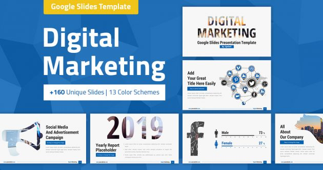 Digital Marketing and Social Media Google Slides Presentation Template