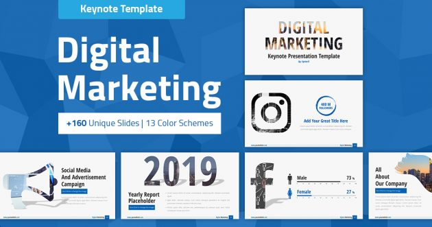 Digital Marketing and Social Media Keynote Presentation Template