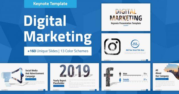 Digital Marketing and Social Media Keynote Presentation Template