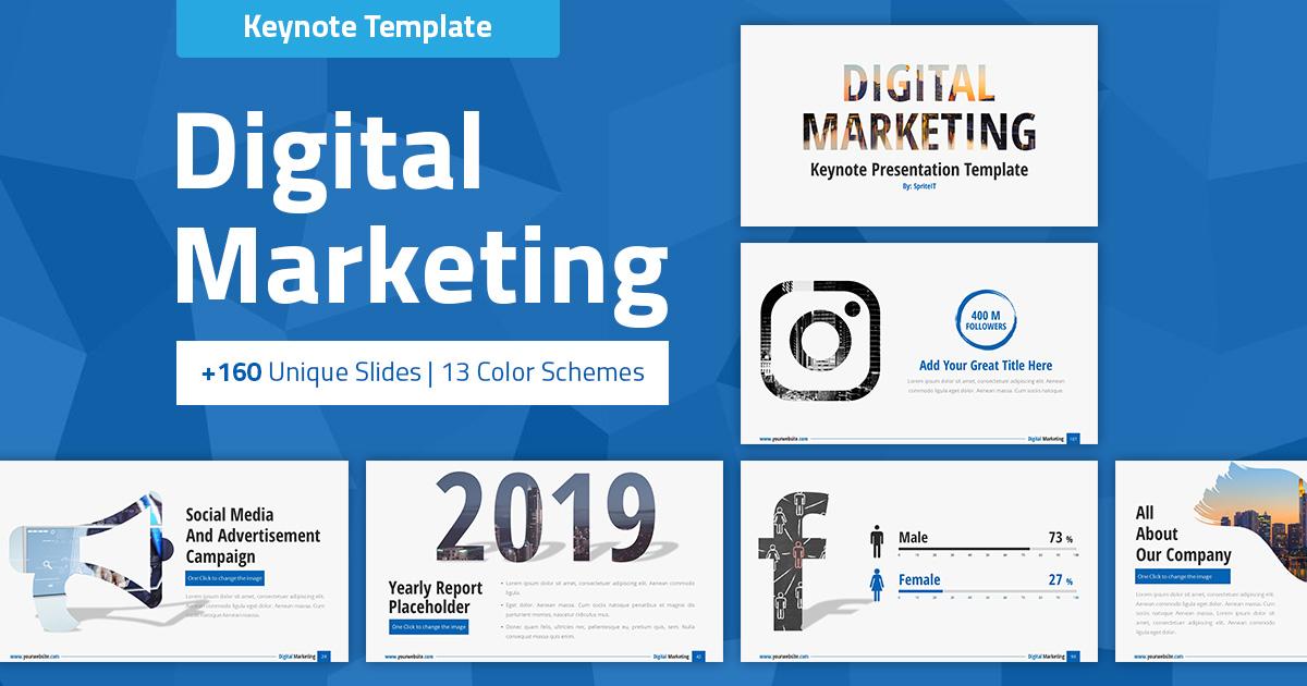 Digital Marketing And Social Media Keynote Pitch Deck Spriteit