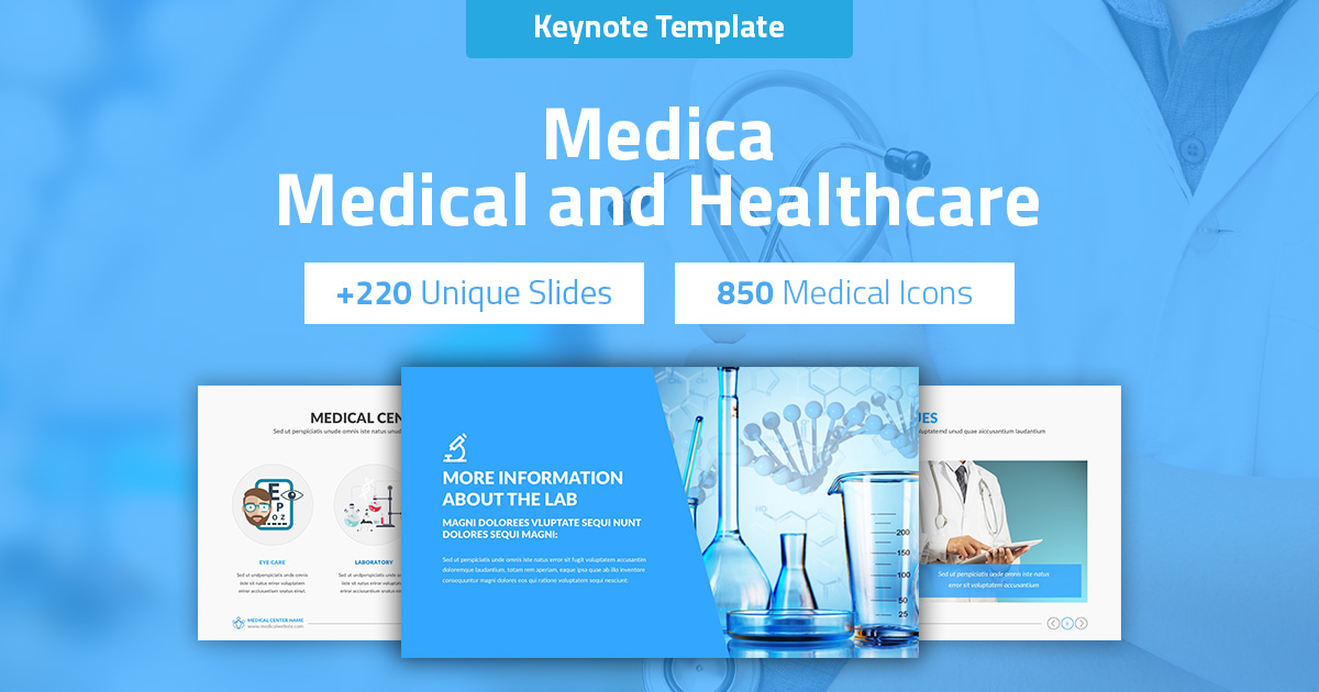 Medica - Medical and Healthcare Keynote Pitch Deck