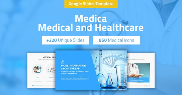 Medica - Medical and Healthcare Google Slides Pitch Deck
