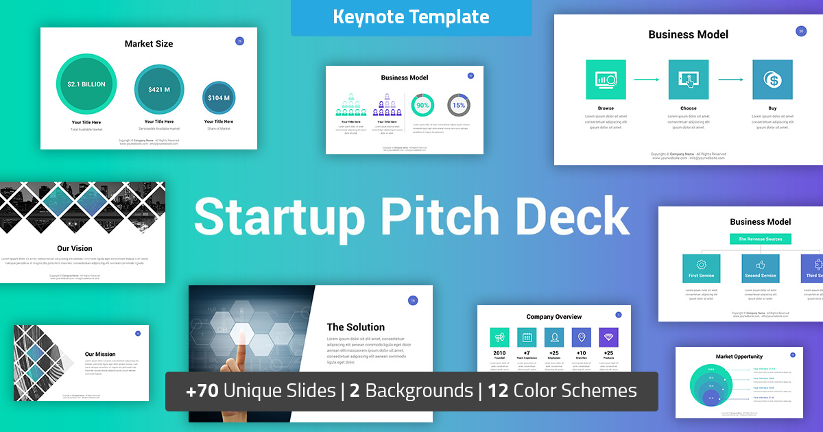 Startup Business Keynote Pitch Deck
