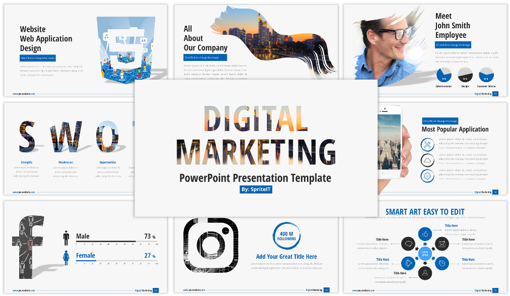 Best Digital Marketing and Social Media PowerPoint Presentation Template