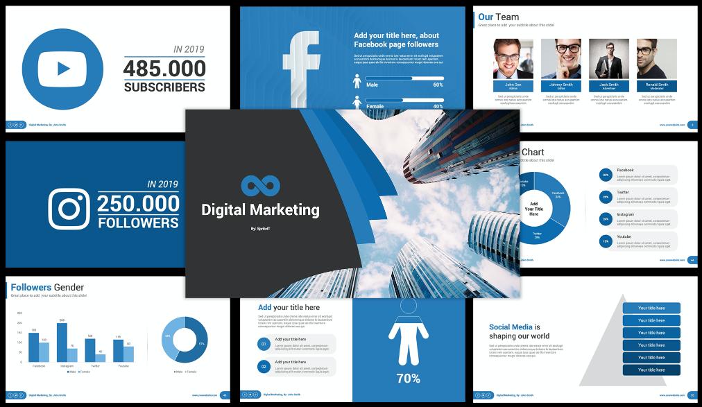 Best Digital Marketing Social Media PPT
