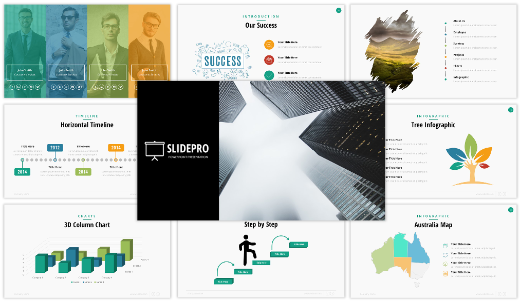 SlidePro Awesome Marketing PPT Template